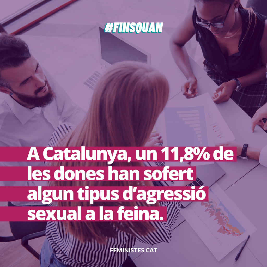A Catalunya, un 11,8% de les dones han sofert algun tipus d'agressió sexual a la feina.