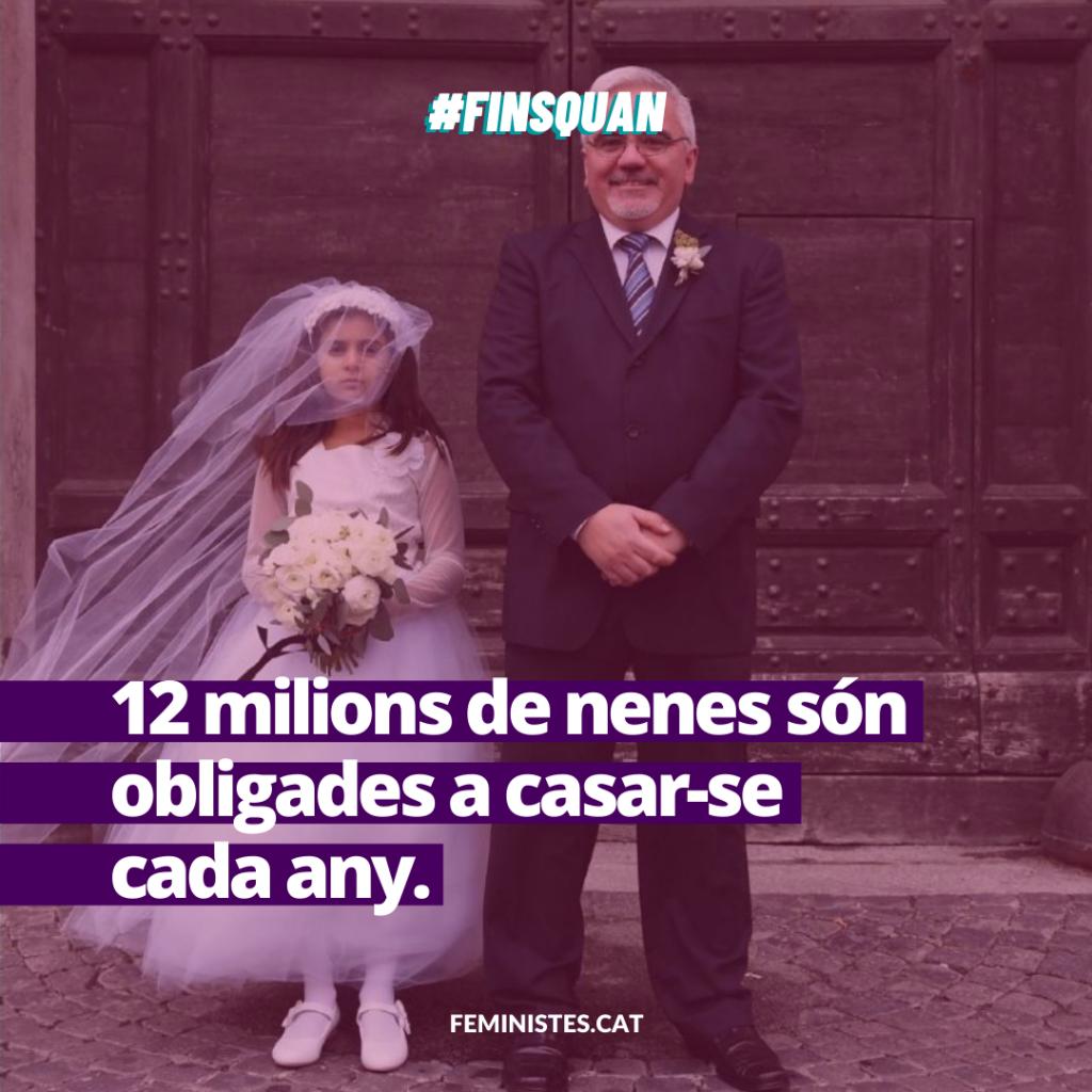 12 milions de nenes són obligades a casar-se cada any. 12 milions de nenes són obligades a casar-se cada any.